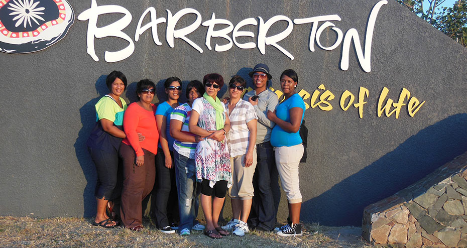 Old Mill Trip - The staff at Barberton